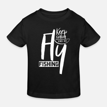 Fly Fly fly fisherman fly fishing - Kids' Organic T-Shirt