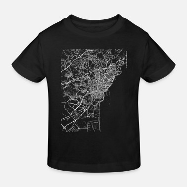 Catania City Minimal Catania city map and streets - Kids' Organic T-Shirt