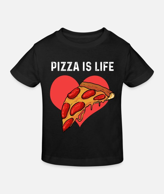 Pizza T-Shirts - Pizza Restaurant Bäcker - Kinder Bio T-Shirt Schwarz