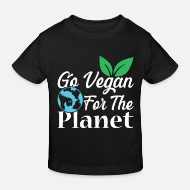 Climatic Protection Vegetarian vegan - Kids' Organic T-Shirt