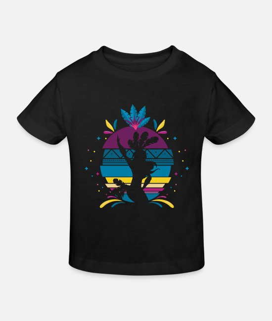 Pirouette T-Shirts - Samba design - Kids' Organic T-Shirt black