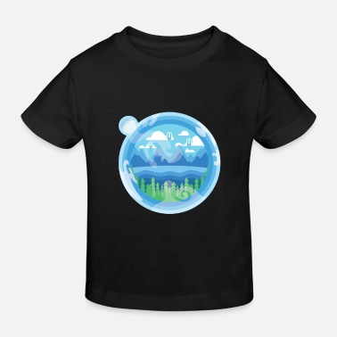 Earth in a bubble - Kids' Organic T-Shirt