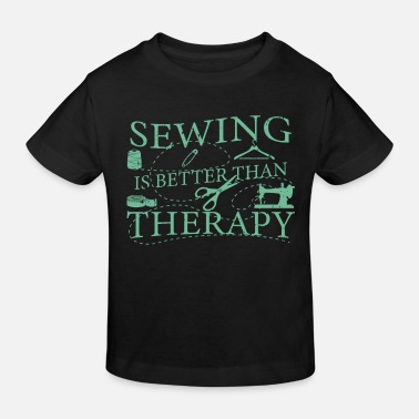 Embroidered Sewing needle sewing machine thread scissors clothes seam - Kids' Organic T-Shirt