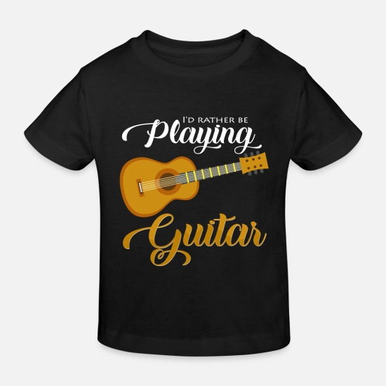Guitar Player Baby Clothes - guitar - Kids' Organic T-Shirt black