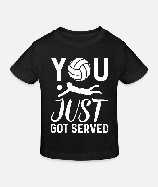 Volley T-shirts - Cadeau de volleyball de plage de sport de volleyball - T-shirt bio Enfant noir