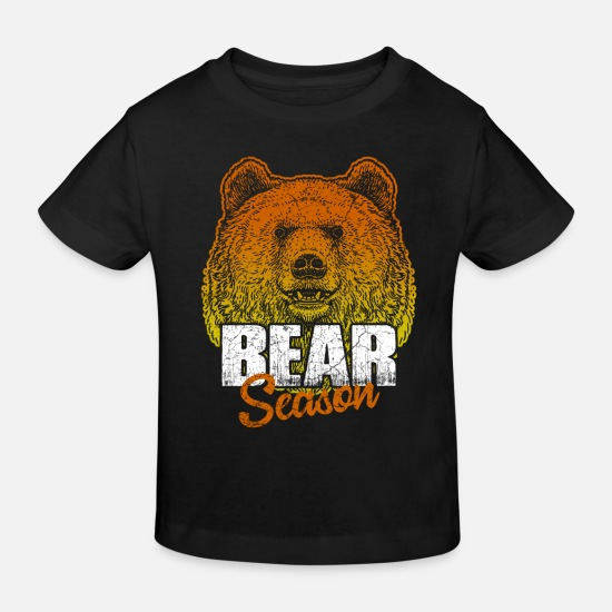 Grizzly Bebiskläder - Bear Brown Bear Grizzly - Ekologisk T-shirt barn svart