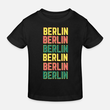 Berlin Retro Vintage Colorful Colored - Kids' Organic T-Shirt