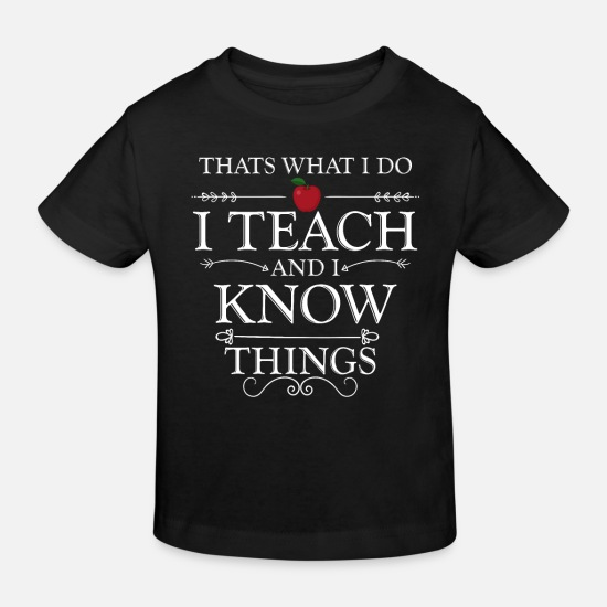 Gift Idea Baby Clothes - Teacher school gift - Kids' Organic T-Shirt black