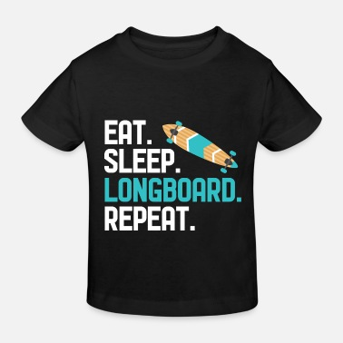 Vinger Eet Sleep Longboard Repeat - Kinderen bio T-shirt