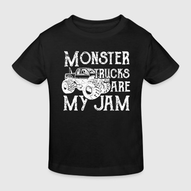 Monster Trucks are my Jam - offroad dirt cars - T-shirt bio Enfant