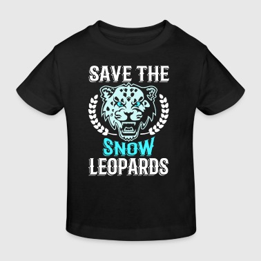 Save the Snow Leopards - animal extinction - Maglietta ecologica per bambini