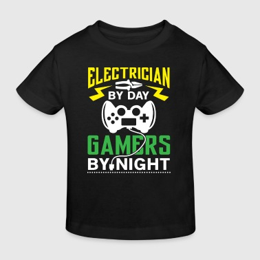 Electrician by Day Gamers by Night - arcade player - Kids' Organic T-shirt