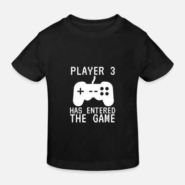 Newborn Player Three Kids Gamer Game Birth - Kids' Organic T-Shirt