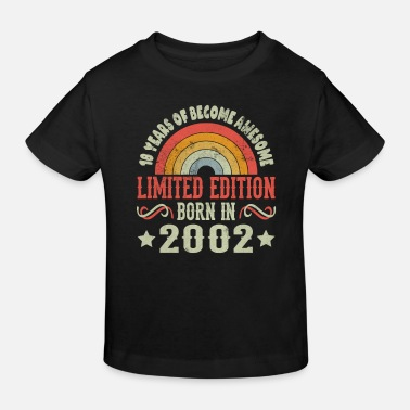 Datum 18 Years Geburtstag Limited Edition Born 2002 - Kinder Bio T-Shirt