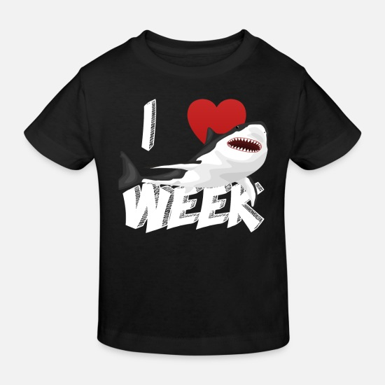 Birthday Baby Clothes - I Love The Week Of Sharks Epic Novelty Gift Idea For Shark Lovers Graphic Shark Bite - Kids' Organic T-Shirt black