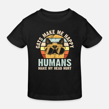 People Cats make me happy - Kids' Organic T-Shirt