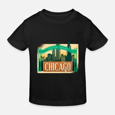 Lincoln Square Chicago America Ami Style - T-shirt bio Enfant