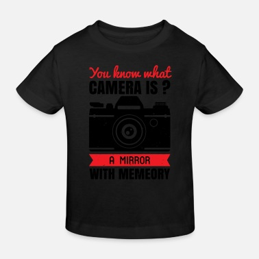 Digital Art You know what camera is - Kids' Organic T-Shirt