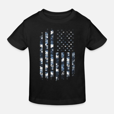 Style Camo USA Flag American Military Style July 4 Camou - Kids' Organic T-Shirt