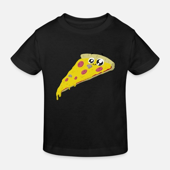 Pizza Baby Clothes - pizza - Kids' Organic T-Shirt black