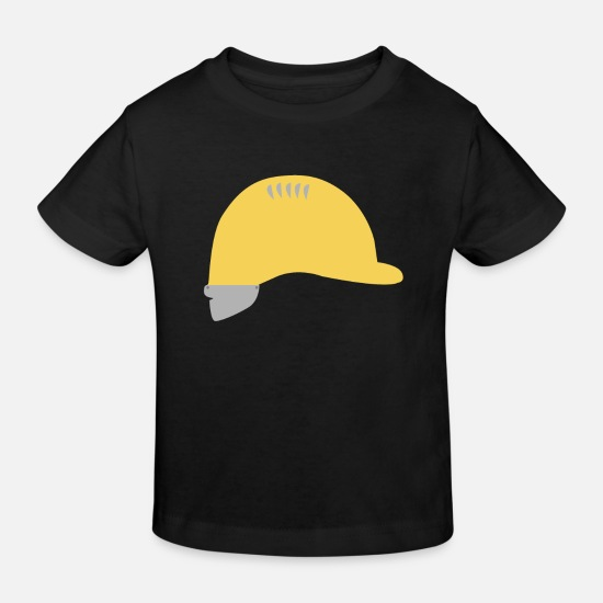 House Keeper Baby Clothes - Hardhat - Kids' Organic T-Shirt black