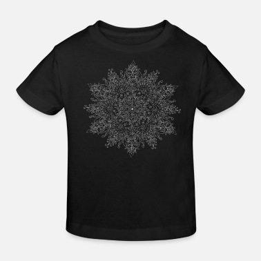 Abstraction Mandala ornement à motif fin - T-shirt bio Enfant