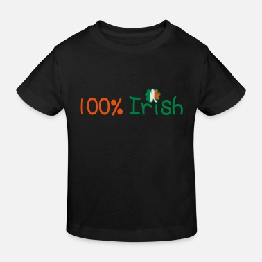 Calm Underwear ♥ټ☘Kiss Me I'm 100% Irish-Irish Rule☘ټ♥ - Kids' Organic T-Shirt