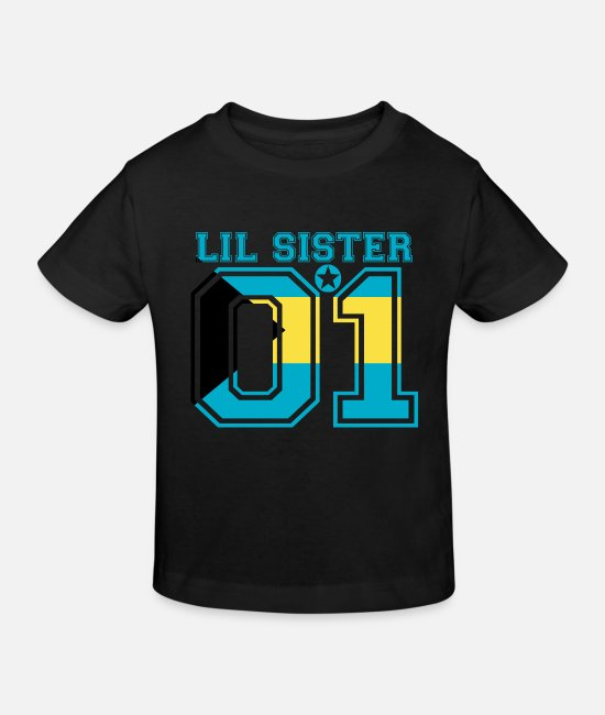 Love Baby Clothes - Sister queen little sister 01 Bahamas - Kids' Organic T-Shirt black