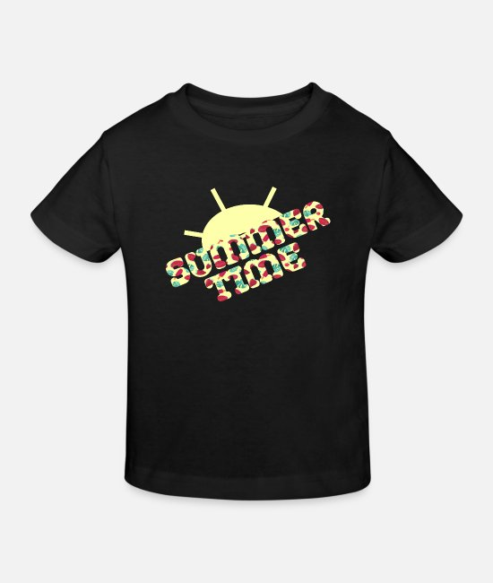 Summertime Baby Clothes - Summer Time Summer Time - Kids' Organic T-Shirt black