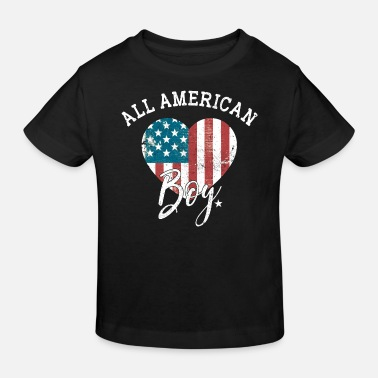 Boy All american Boy -United States Junge Kind Patriot - Kids' Organic T-Shirt