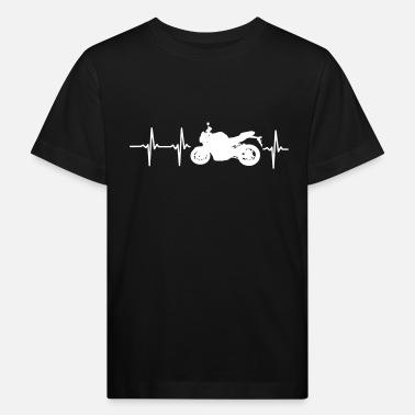 72a3bb9cba84c Moto MI CORAZÓN LATE PARA MOTOCICLETAS - Camiseta orgánica niño