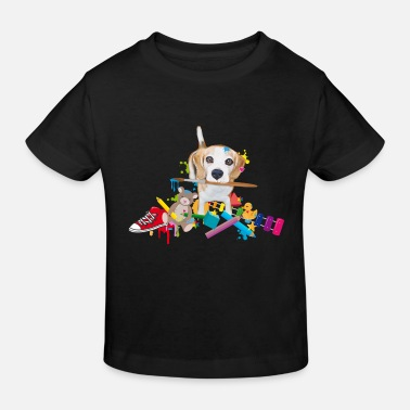 Beagle mit Pinsel - Kinder Bio-T-Shirt