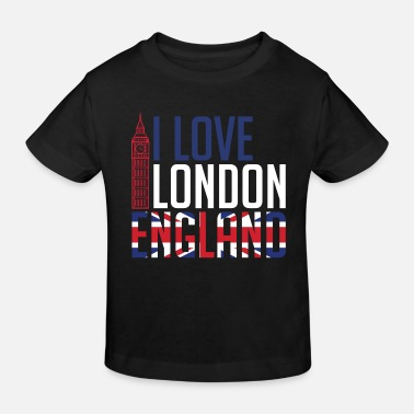 England I Love London England - Kids' Organic T-Shirt