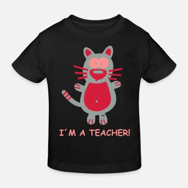 Ascensore I´m a teacher Lehrer Fun school cat cats kitty - Maglietta ecologica per bambini