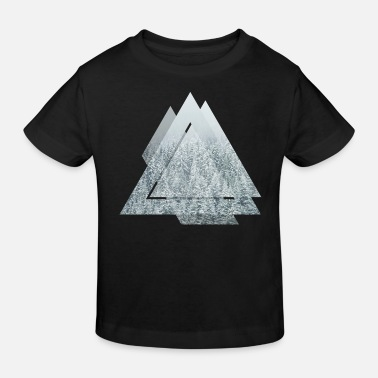 Triangle Snow Forrest - Kids' Organic T-Shirt