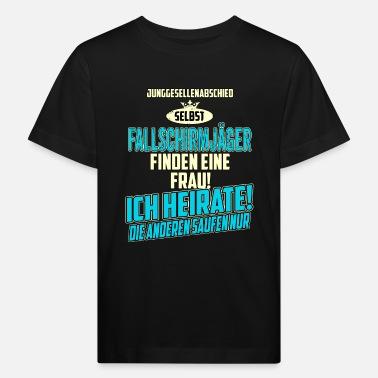 1590c4995576 Fallschirmjäger JGA BRAEUTIGAM - Fallschirmjäger - strong sky blue -  RAHMENLOS Berufe Geschenk - Kinder Bio