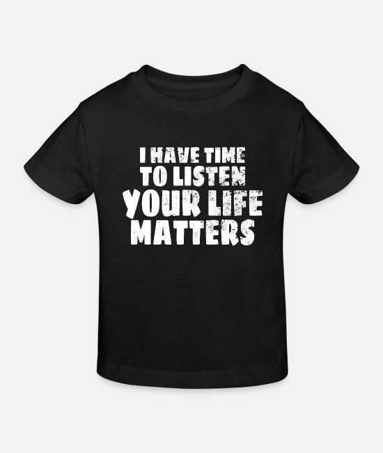 Mental Health Baby Clothes - MENTAL HEALTH AWARENESS: Life Matters - Kids' Organic T-Shirt black