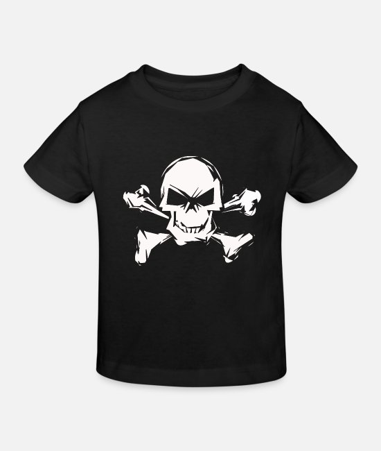 Death's Head Baby Clothes - Pirate skull - Kids' Organic T-Shirt black