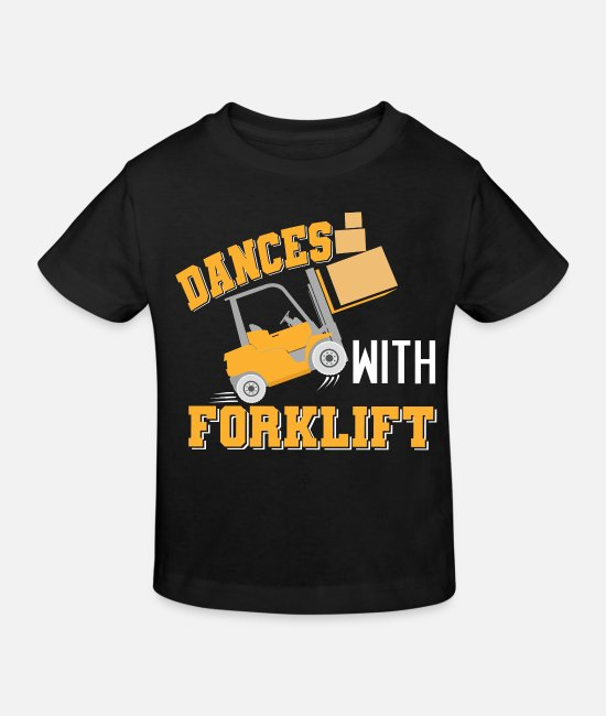 Present Baby Clothes - The forklift driver is dancing with a forklift driver shirt - Kids' Organic T-Shirt black