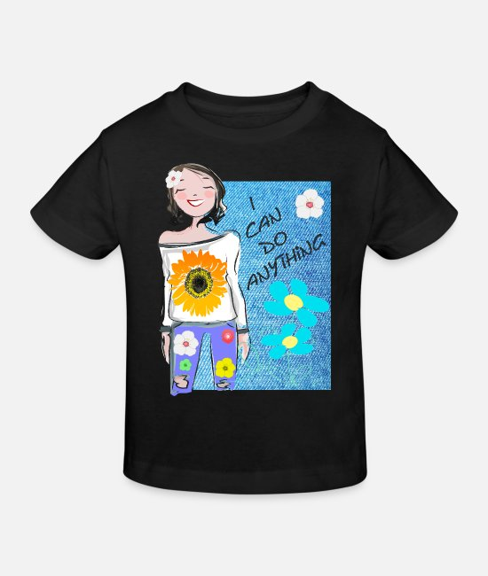Young Woman T-Shirts - Young woman - Kids' Organic T-Shirt black