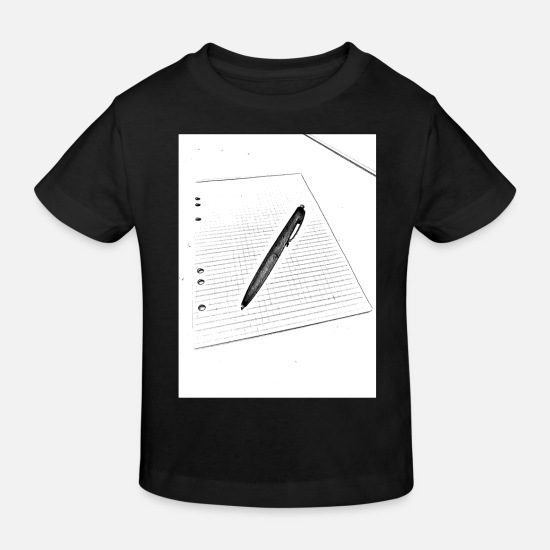 Word Baby Clothes - Pen and paper - Kids' Organic T-Shirt black