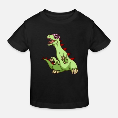 Party Dinosaur Funky Kids Funny Dino T-Rex NEW - Kids' Organic T-Shirt