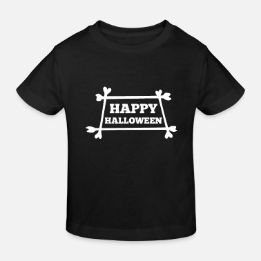 Graf Happy Halloween-botten zeggen - Kinderen bio T-shirt