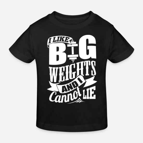 Gym Baby Clothes - Big Weights Funny Gym - Kids' Organic T-Shirt black