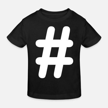 Hashtag icon vector - Kids' Organic T-Shirt