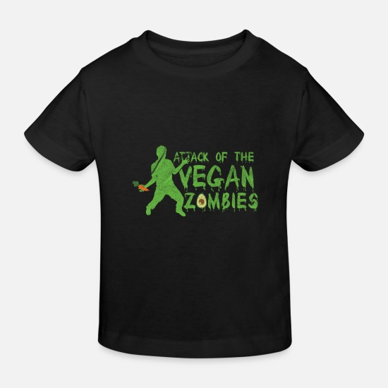 Die Baby Clothes - Zombie - Attack of the Vegan Zombies - Kids' Organic T-Shirt black