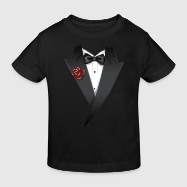 Krawatte Tuxedo Tie Designs tux black - Kinder Bio-T-Shirt