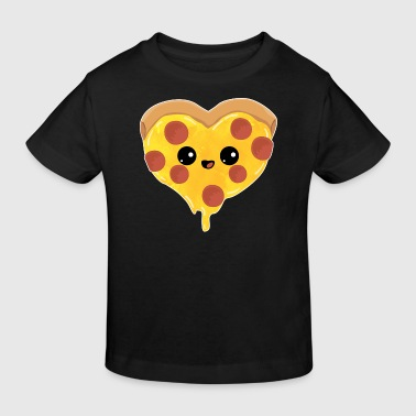 Heart - love salami pizza gift mother day child - Kids' Organic T-shirt