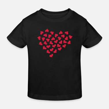 Lots of Hearts and Love  - Camiseta ecológica niño