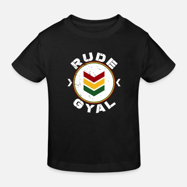 Bashment Rude Gyal - Kids' Organic T-Shirt